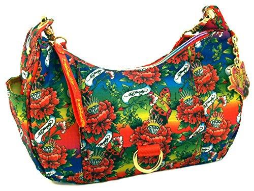 Ed Hardy 1ANY032EME-Orange Handtasche, Damentasche, Henkeltasche, Handbag - Mehrfarbig 28 cm -