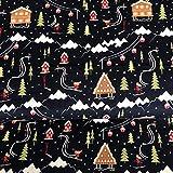 Stoff Skifahren Winter Weihnachten Skifahren Weihnachten