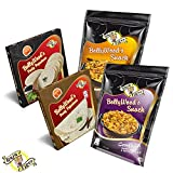 Probierangebot BollyWood's Snacks & Party Papadams von Raja Tiger - scharf, würzig und mit Pepp. Erstmals in Europa die neuen Bolly Chips Party Cracker - Langweilig war gestern - 2 x175 g + 2x 100g