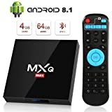Android 8.1 TV Box 4GB+64GB superpow MXQ MAX Android Box Quad-Core mit BT4.1 3D / 2.4Ghz WiFi / 100 LAN / H.265 / USB3.0 HDMI Smart TV Box