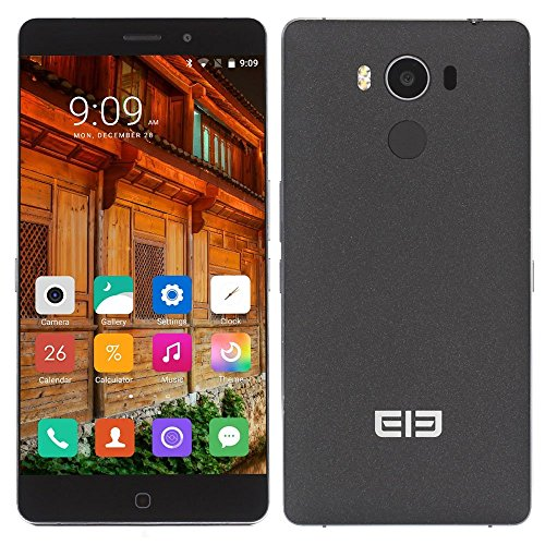 Elephone P9000 Smartphone 4G - 5,5 pollici 1920x1080 pixel, Android 6.0 MT6755 Octa Cores 2.0GHz, Dual SIM, 4GB + 32GB ROM, Camera 13M + 8M, Nero - 6/0 Chiave