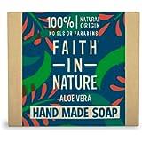 Faith in Nature Natural Aloe Vera Hand Soap Bar, Rejuvenating Vegan & Cruelty Free, Parabens and SLS Free, 100 g