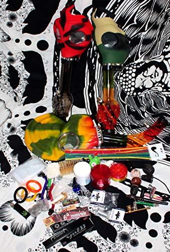 budawi- Headshop Set Acrylbong Maske- Wundertüte, Gas Acrylbong Maske, Chillum, Steckköpfe, Grinder, Pur-Pfeife, Papers, Mystery-Boxen, Percolator, ActiTube, Schmand-Weg, OCB ...