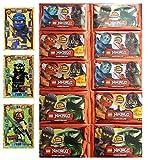 LEGO Ninjago Limitierte Goldkarten LE 2 Jay + LE 4 Cole + LE 8 Ronin + 50 Karten
