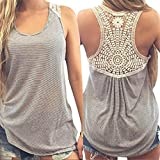MRULIC Damen Sommer Kurzarm T-Shirt V-Ausschnitt mit Schnürung Vorne Oberteil Tops Bluse Shirt (L, Grau)