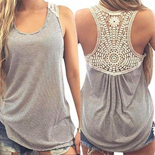 MRULIC Damen Sommer Kurzarm T-Shirt V-Ausschnitt mit Schnürung Vorne Oberteil Tops Bluse Shirt (S, Grau)
