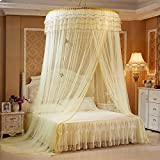 Mosquito net Mosquito Protection Dome Ceiling Height up Landing Encryption Double Home Textiles Cream-colored 6 foot bed