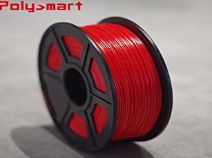 PolySmart ABS Filament 1.75mm Color Red (1Kg/Roll)