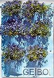 Pflanzenwand blau 6 Taschen |Pflanzen Wand Pflanztasche Pflanzbeutel Pflanzkorb