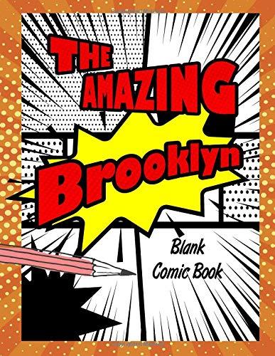 The Amazing Brooklyn: Pop Comic Blank Writing Book por Rob Cole