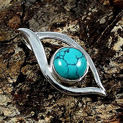 Turquoise 925 Sterling Silver Pendant Gemstone