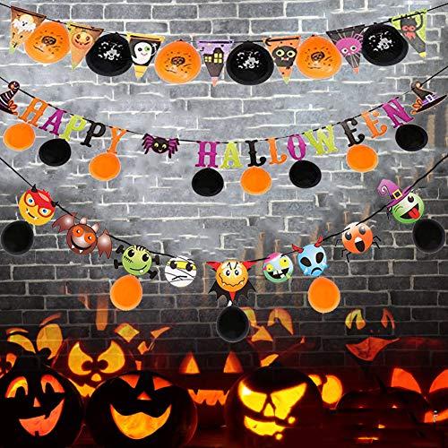 SKY TEARS Halloween Banner, Happy Cartoon Halloween Brief Banner Ballon Hängen Flagge Party ()