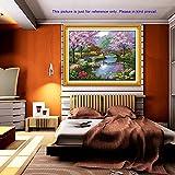 Anself Fai da te a mano Needlework contati Punto Croce Set ricamo Kit 14CT splendido scenario del Parco del modello punto croce 57 * 45cm della decorazione della casa