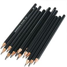 FOReverweihuajz Ausverkauf! 14 Stück Professional Art Sketch Bleistift Set (12b 10B 8B 7B 6B 5B 4B 3B 2B 1B HB 2H 4H 6h) Schüler zeichnen Malwerkzeug Set-schwarz