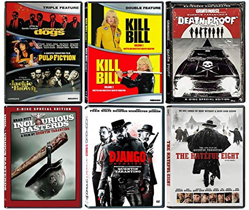 The 'Quint-Essential' Collection: Complete Quentin Tarantino 9 Film Catalog (Reservoir Dogs / Pulp Fiction / Kill Bill Vol 1 & 2 / Inglourious Basterds / Django Unchained / The Hateful Eight & More!)