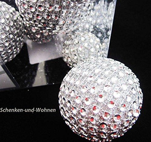 Diamantbälle/Diamantkugeln 8tlg., silber ca. 3,0/5,0 cm Durchmesser - 2