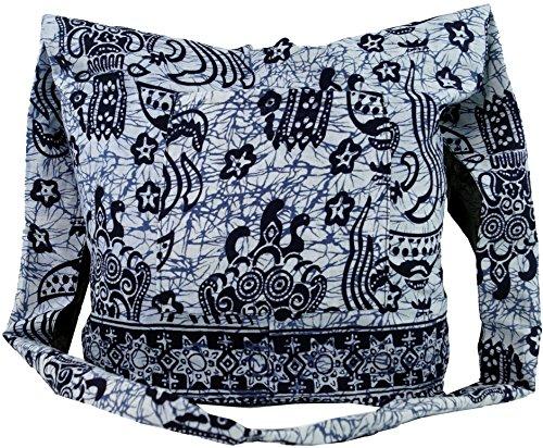 Borsa Sadhu Guru-shop, Tracolla, Borsa Hippy - Arancione, Uomo / Donna, Cotone, 30x32x10 Cm, Borsa In Tessuto Colorato Blu