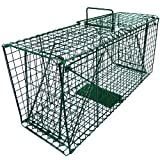 ARKSEN Live Pet Animal Traps Steel Cage, 26L x 9W x 12H