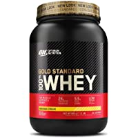 Optimum Nutrition Gold Standard 100% Whey Proteine in Polvere con Proteine Isolate, Aminoacidi e Glutammina per la Massa…