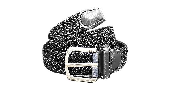 acaff0797159e4 xxl-cosmetic Flechtgürtel Unisex elastisch Damen Herren Gürtel geflochten  Stretch #ES Schwarz: Amazon.de: Bekleidung