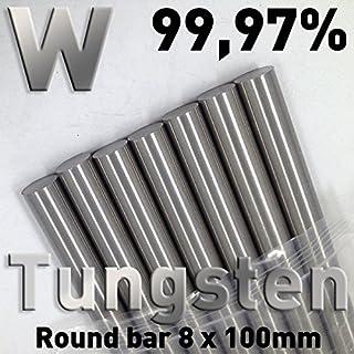 ADAALEN 8x100mm Tungsten massive Stange High Purity Rohr Tungsten