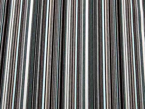 Stripe Print Stretch Polyester Crepe Kleid Stoff braun & Aqua–Meterware (Polyester Crepe)