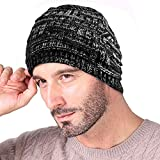 #5: Knotyy Beanie Caps, Woolen Caps, Knitted Slouchy Caps, Skull Cap for Men & Women (Smudgy-Black)