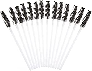 WILLTOO 50Pcs Disposble Eyelash Brush Mascara W S Makeup Cosmetic Tool Size:5.8cm*5.8cm Black