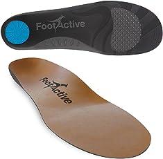 FootActive NATURE PLUS - Leder-Einlegesohlen - Laufkomfort für Füße, Beine und Rücken, speziell bei Fersensporn - Federleichte Vollsohle!