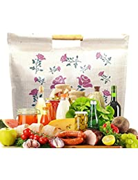 Large Eco Friendly Hand Bag / Shopping Bag / Grocery Bag / Vegetable Bag With Stick Handle For Daily / Travel...