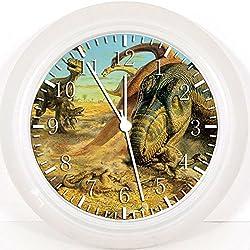 Reloj de pared de dinosaurio 25,4 cm color y para pared W40