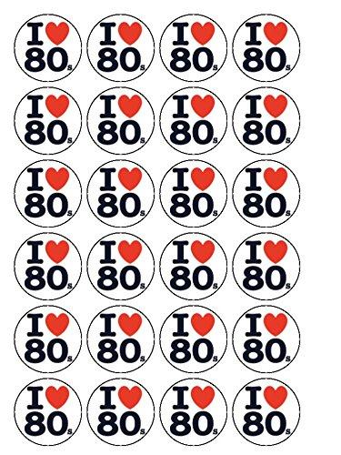 30-x-i-love-80s-eighties-15-38cm-pre-cut-premium-rice-paper-edible-cake-toppers