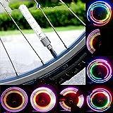 Bunte Nacht Reiten Fahrradlicht 5LED Ventil Speichen-Lampe leuchtet Autobahn wechseln kollabiert Mehrfarben 2ST