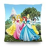 AG Design Disney Prinzessinnen Deko Kissen, Polyester, Mehrfarbig, 40 x 40 cm