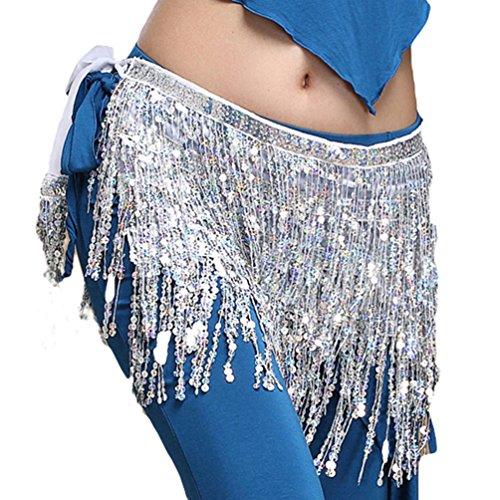 YiJee Bauchtanz Zubehör Taille Bund Sequins Quasten Belly Dance Taille Kette (Kostüme Zubehör Und Orientalischen Tanz)