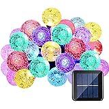 QederTEK Cadena de Luz LED con Energía Solar (6m 30LED) para Árbol de Navidad, Patio, Jardín, Terraza y Todas las Decoraciones con Diseño de Bolas de Cristal de Colores