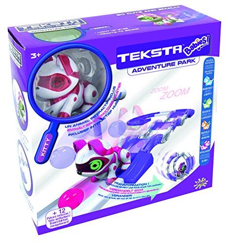 Splash Toys 30625 - TEKSTA Babies KITTY Spielset mit Roboter Katze und Bauteilen für Spielbahn und Laufrad, elektronisches Haustier, interaktives Kätzchen, ab 3 Jahre