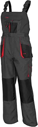 ArtMas Classic Bib and Brace Dungaree Overalls, Pro Wear Workwear, S-3XL Size - Multipockets, Pocket for Knee Pad, Durable Triple Stitched Seams, 2 Colors