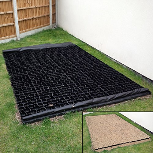 7ft-x-5ft-shed-base-kit-includes-weed-fabric-and-35-x-truepave-plastic-paver-paving-grids-slabd