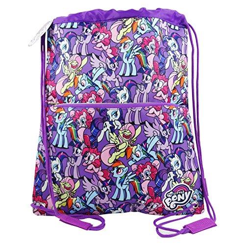 My little pony sacca con cordoncini capiente per bambini uso scuola e tempo libero, multiuso