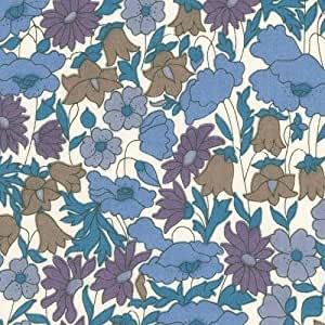 Tissu Liberty - Poppy and Daisy bleu x10cm