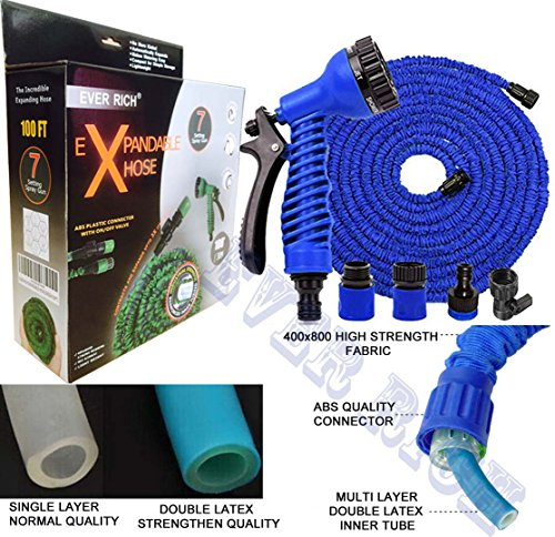 ever-rich-blue-100ft-expandable-gardenhose-light-weight-non-kink-water-spray-nozzle-with-connectors-