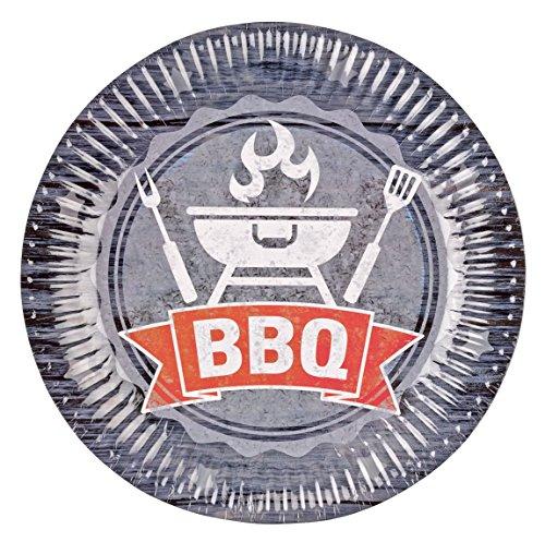 Amscan 9901855 Teller BBQ Party, Mehrfarbig, 23 cm Preisvergleich