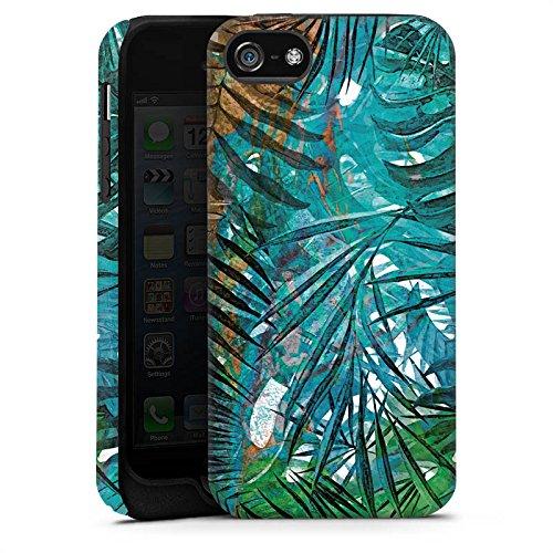Apple iPhone X Silikon Hülle Case Schutzhülle Palmenblätter Dschungel Palme Tough Case matt