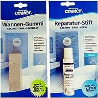 Cramer Kit de réparation avec stylo Vernis Blanc et coffre en caoutchouc