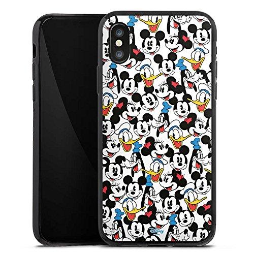 Apple iPhone X Silikon Hülle Case Schutzhülle Disney Mickey Mouse Goofy Donald Duck Minnie Mouse Fanartikel Geschenke Silikon Case schwarz