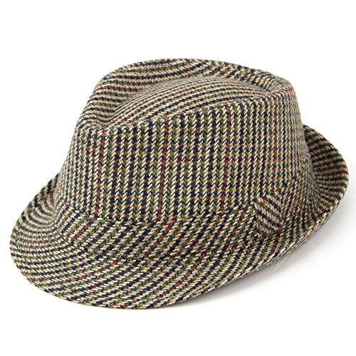 Hawkins Classic Tweed Trilby Hat Gr. 7 1/8, Mehrfarbig - Tweed-trilby