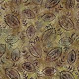 Braun Venus Design 100% Baumwolle Bali Batik tie dye Muster Stoff für Patchwork, Quilten &,–(Preis pro/Quarter Meter)