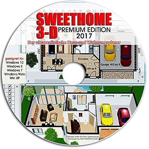 Sweet Home 3D Raumplanung - Premium Edition mit mehr als 1.000 3D-Modelle, perfekt für Haus und Wohnungsplaner -Für Windows 10 ® Windows 7®, 8® ,XP® und Vista® -Deutsche (Windows 7 Home Premium Kaufen 64 Bit)