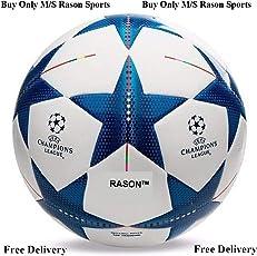 RASON Blue (3 Ply PVC; Size- 5) Champion Star League Replica Football